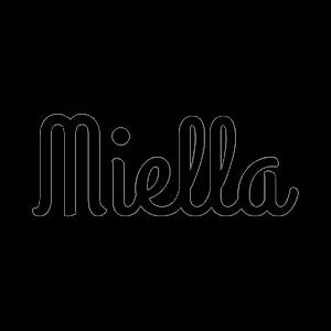 Miella - logo written in black.