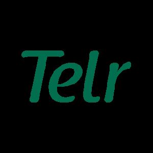 Telr written in green.