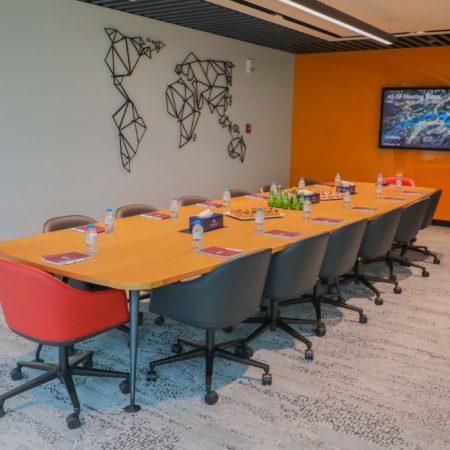 the Map Room, Dtec meeting room, Events Space, Boardroom, Dtec Coworking, 14 seat boardroom, Dubai Silicon Oasis