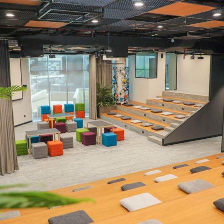 Dtec Auditorium, Events space, large events space, pitch venue, startup auditorium, startup events, Dtec Coworking, Dubai Digital Park, Dubai Silicon Oasis